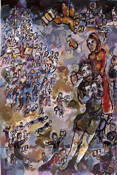 Job, a tapestry by Marc Chagall for the Rehabilitation Institute.