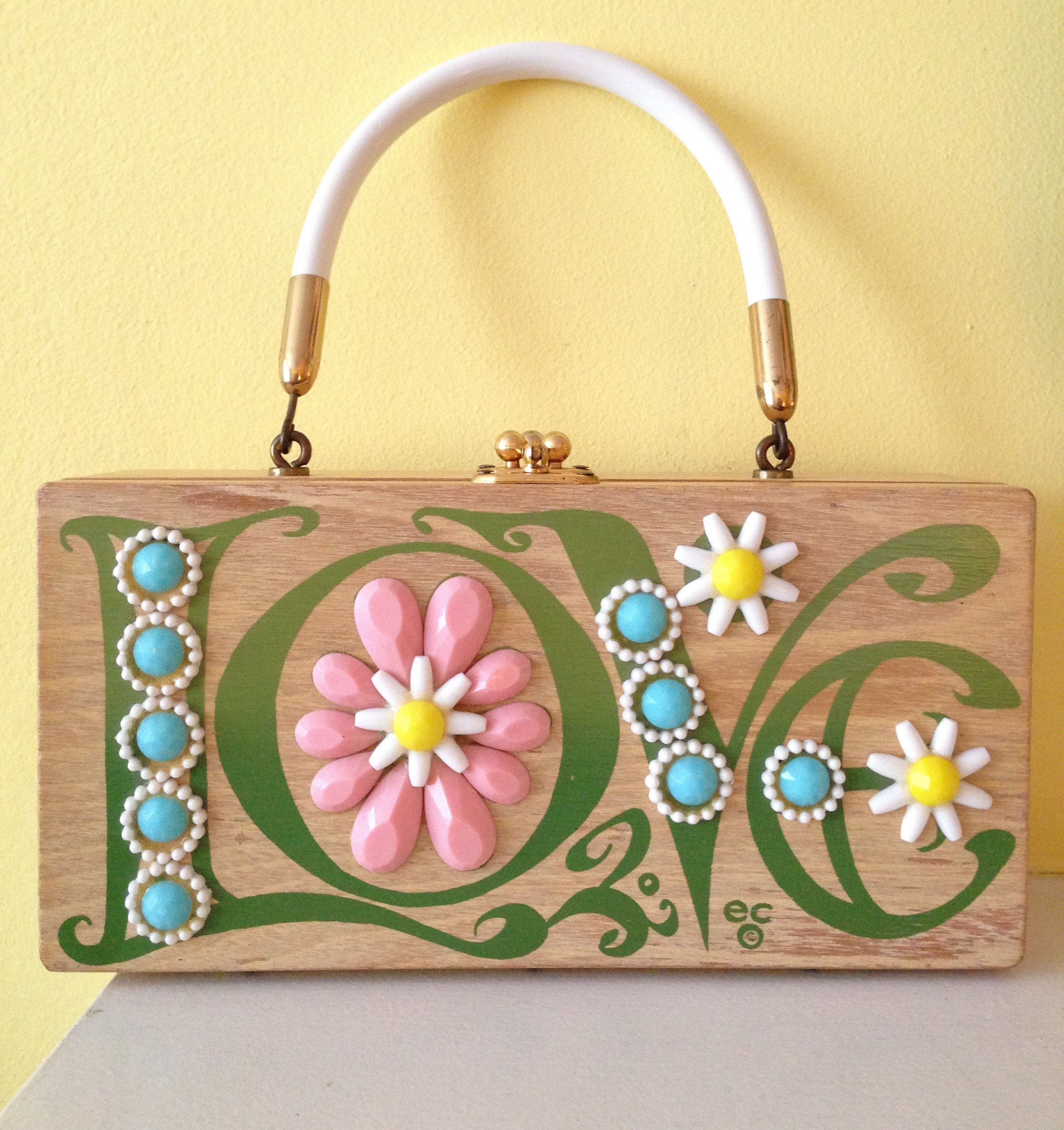 Enid Collins 1960s Of Texas Love Box Bag From Ladybug Vintage