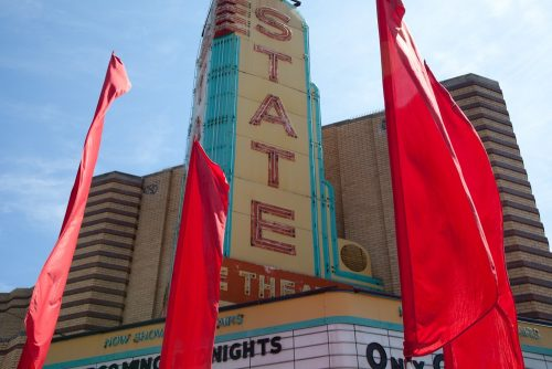 The glorious, iconic marquee of  State Theater.