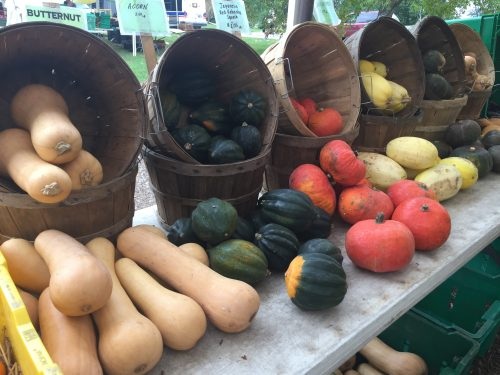 Fall vegetables at the farmers market.