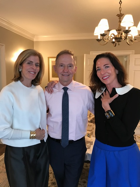 Diane Reilly, Jim Haag (Managing Director of Verdura and Belperron), and co-host Kim Moore.