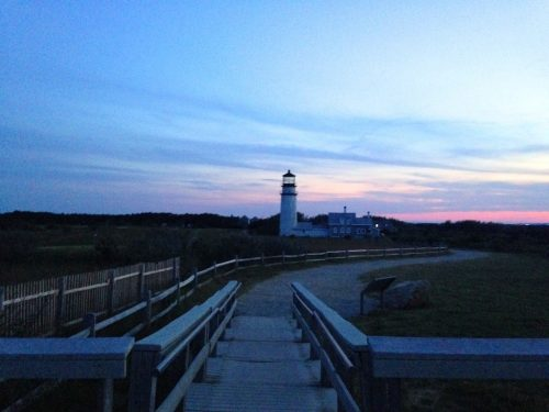 Highland Lighthouse at sunset