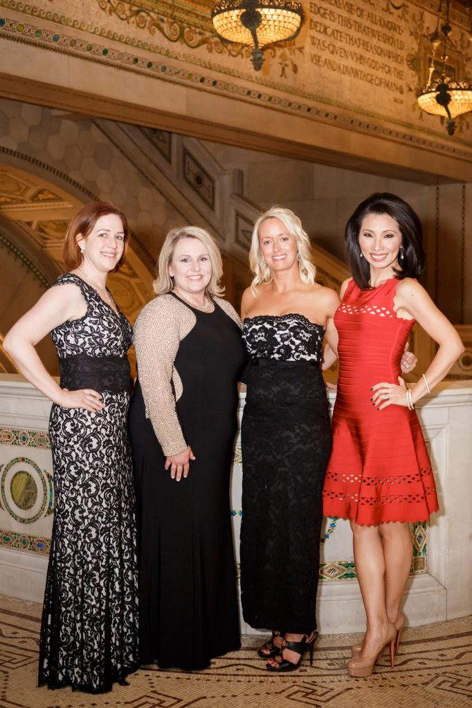 Heidi Thornton (Fundraising Director, Junior League of Chicago), Ann Brinkman Carstensen (President, Junior League of Chicago), Kelly McClure (Executive Vice President, Junior League of Chicago), and Judy Hsu (co-anchor, ABC7 News This Morning.