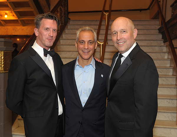Joffrey Artistic Director Ashley Wheater, Mayor Rahm Emanuel, and Gregory Cameron.