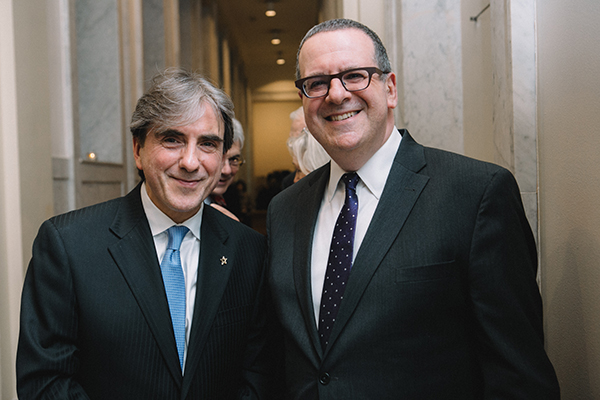 Leon Plantanias and Anthony Freud, General Director of the Lyric Opera of Chicago.