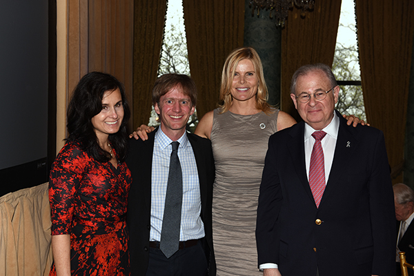 Panelists Dr. Janet Wozniak, Dr. Robin Nusslock, and Mariel Hemingway with Moderator Dusty Sang.