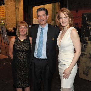 24. L-R Sheila and Mike Foley with star Kate Baldwin at after party_Dan Rest photo