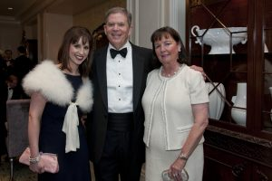 Clearbrook Board member Gerry Fitzgerald with his wife Denise and daughter Celine