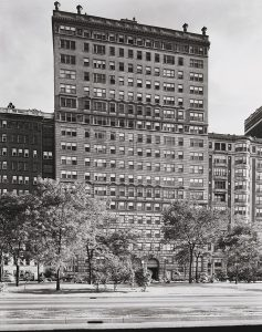 Exterior view of apartment building at 209 East Lake Shore Drive in Chicago, Illinois, circa 1941.