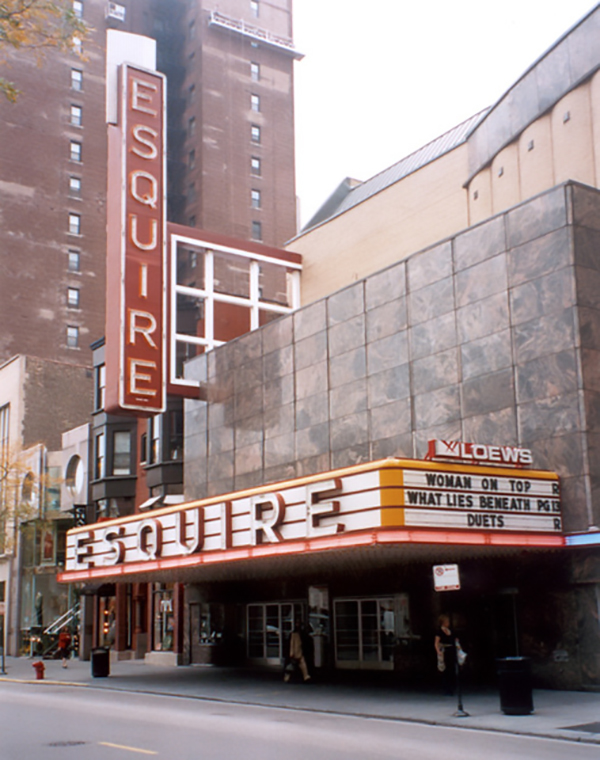 The Gold Coast's Esquire Theater, closed in 2006, now serves as retail and restaurant space.
