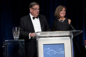 Shining Star Ball honorees, Ed and Dorothy Wehmer accept their award