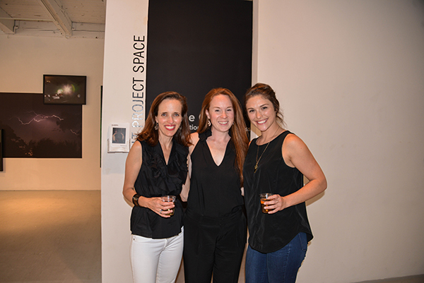 Caroline Older, Director of the Chicago Artists Coalition, with CAC staff members, Mary DeYoe, and Stephanie Lentz.
