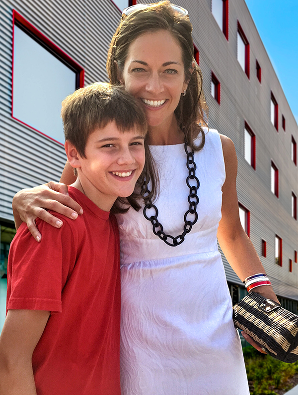 The lovely Margaret Unetich and son.