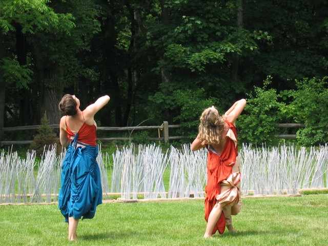 Dancers on the lawn.