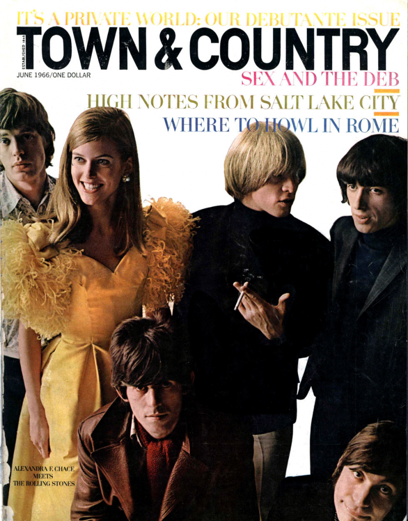 The June 1966 issue of Town & Country featuring debutante Alexandra Chace and the Rolling Stones.