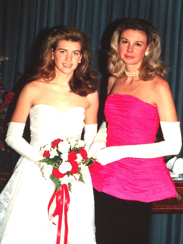 My mother and I at the Philadelphia Assembly Ball, where I made my debut in 1987.