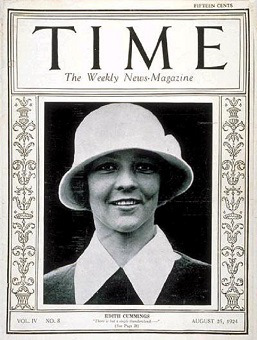 Edith Cummings on the cover of Time in 1923.
