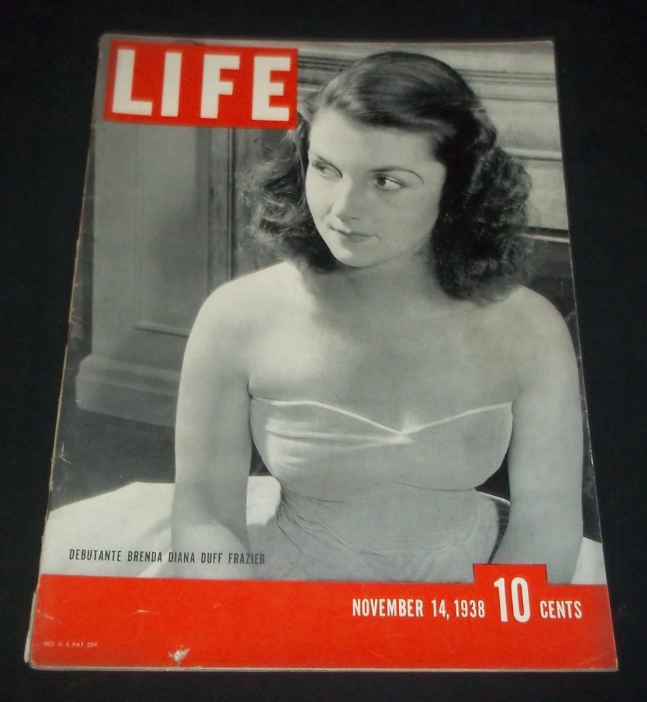 Brenda Frazier on the cover of Life in 1938.