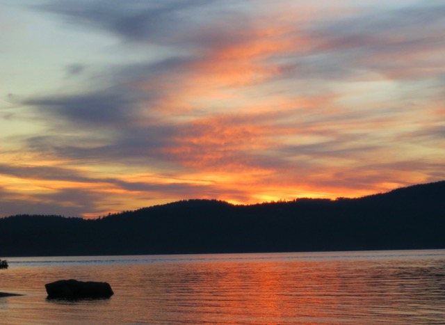 Color dances through the skies and across the water.