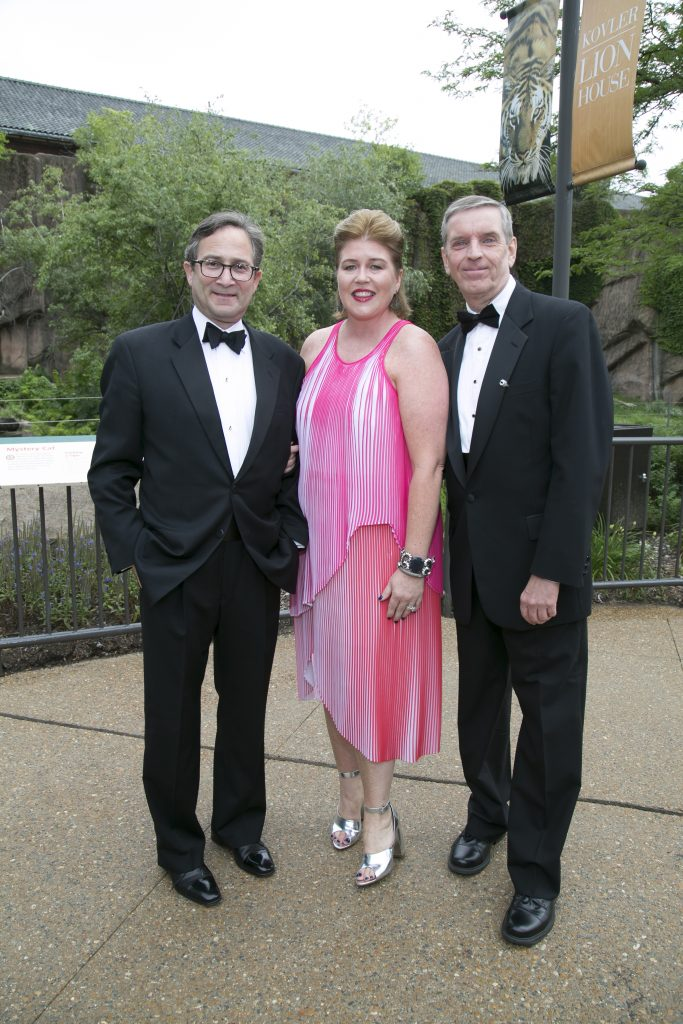 John Ettelson, Chairman of the Board of Trustees; Kim Theiss, Women's Board President and Kevin Bell, Lincoln Park Zoo President and CEO.