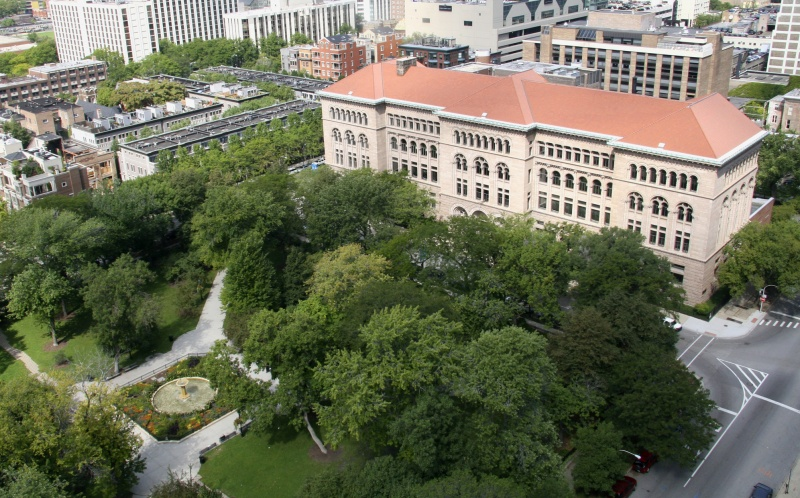 A view from above: the breathtaking Newberry Library.