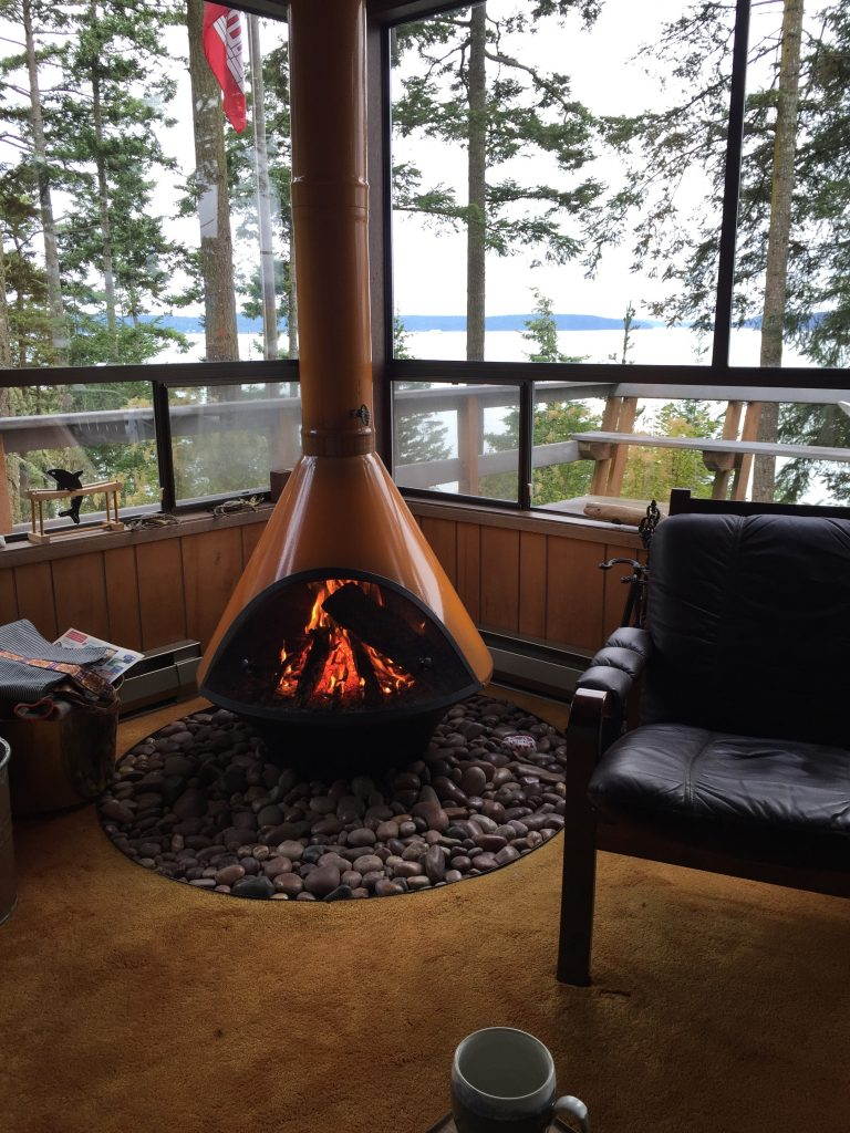 Taking in the view while staying nice and toasty.