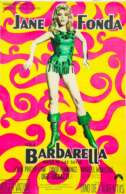 An Argentinian poster for Barbarella from 1968, perfectly capturing the psychedelic feeling of the era.