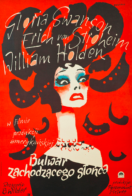 The stunning Polish version of the poster for Sunset Boulevard (1950).