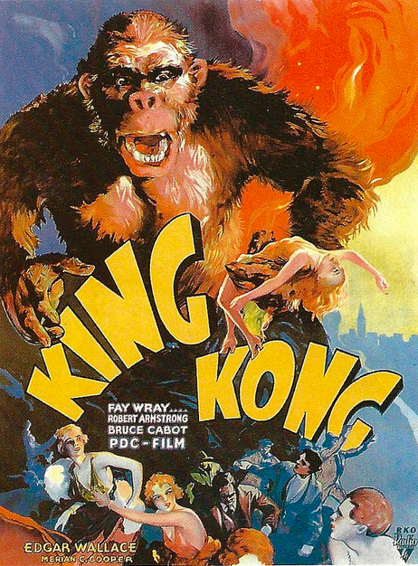 A Czech example of a poster for King Kong, from 1933.