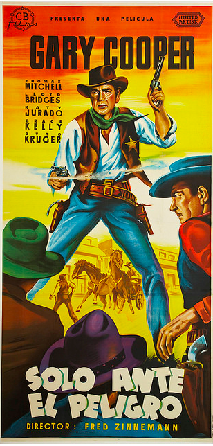 Though not Wolf Song, another great piece is this Spanish-language poster for one of Gary Cooper's more famous films, High Noon.