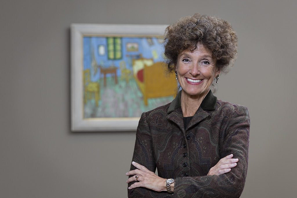 The new Chair of the Department of European Painting and Sculpture at the Art Institute of Chicago, Gloria Groom.