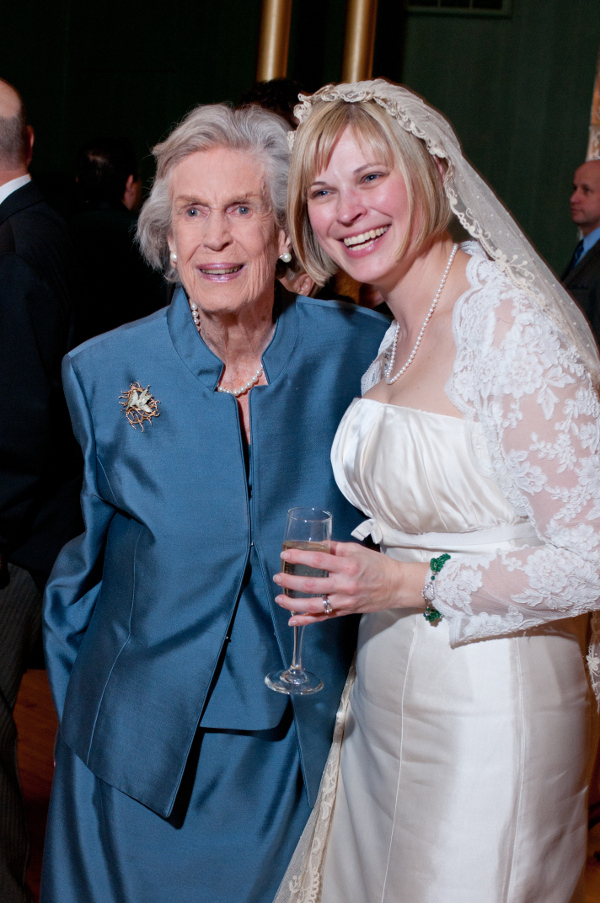 Peggy and the beautiful bride, Susanna Craib-Cox.