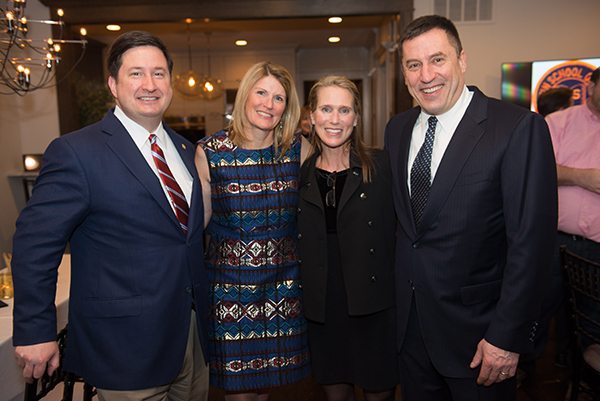 Board-Chair Vince Cozzi, Maureen Rogan, and Event Co-Chairs Gwen and Nick Pontikes.