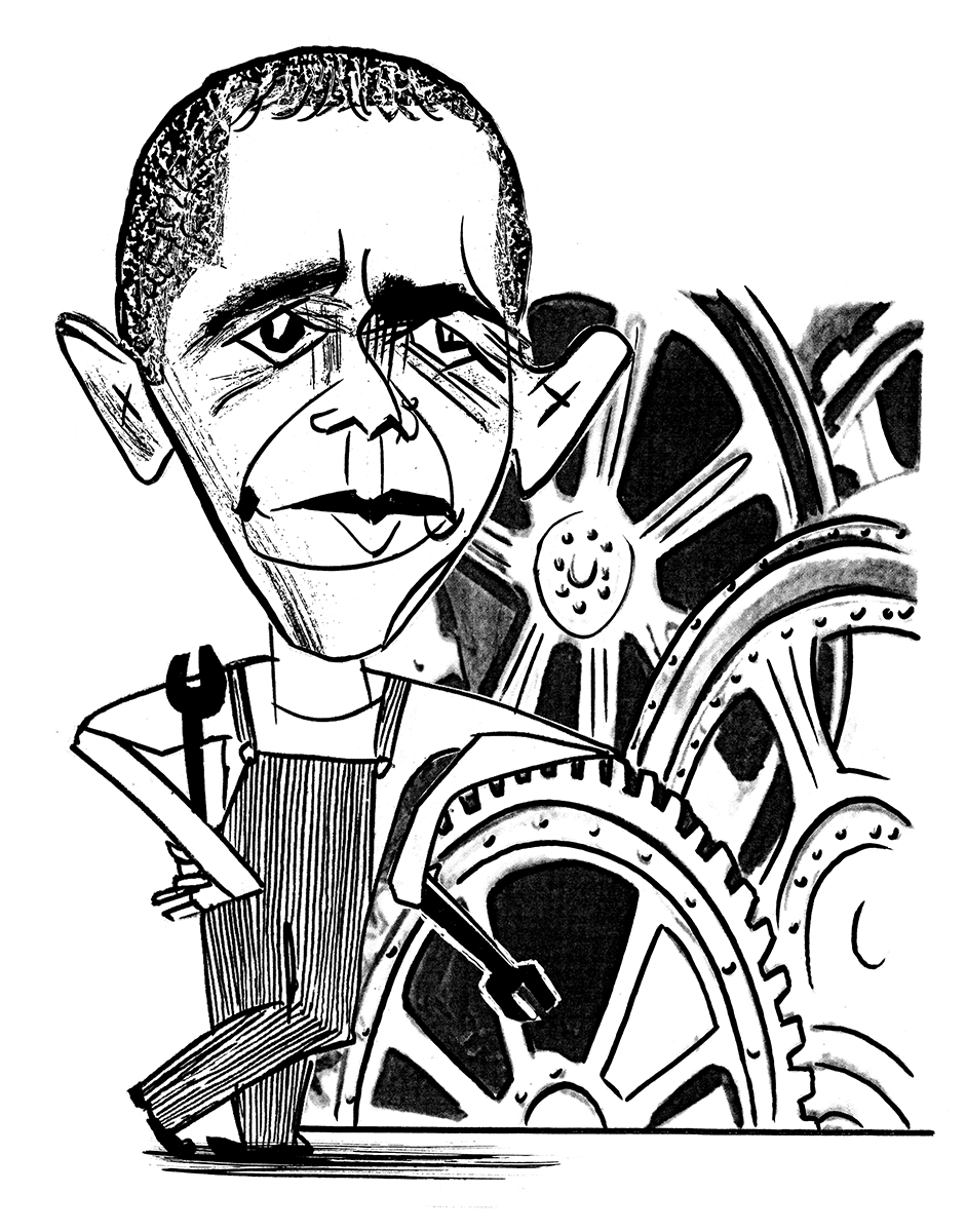 Barack Obama, as imagined by Bachtell.