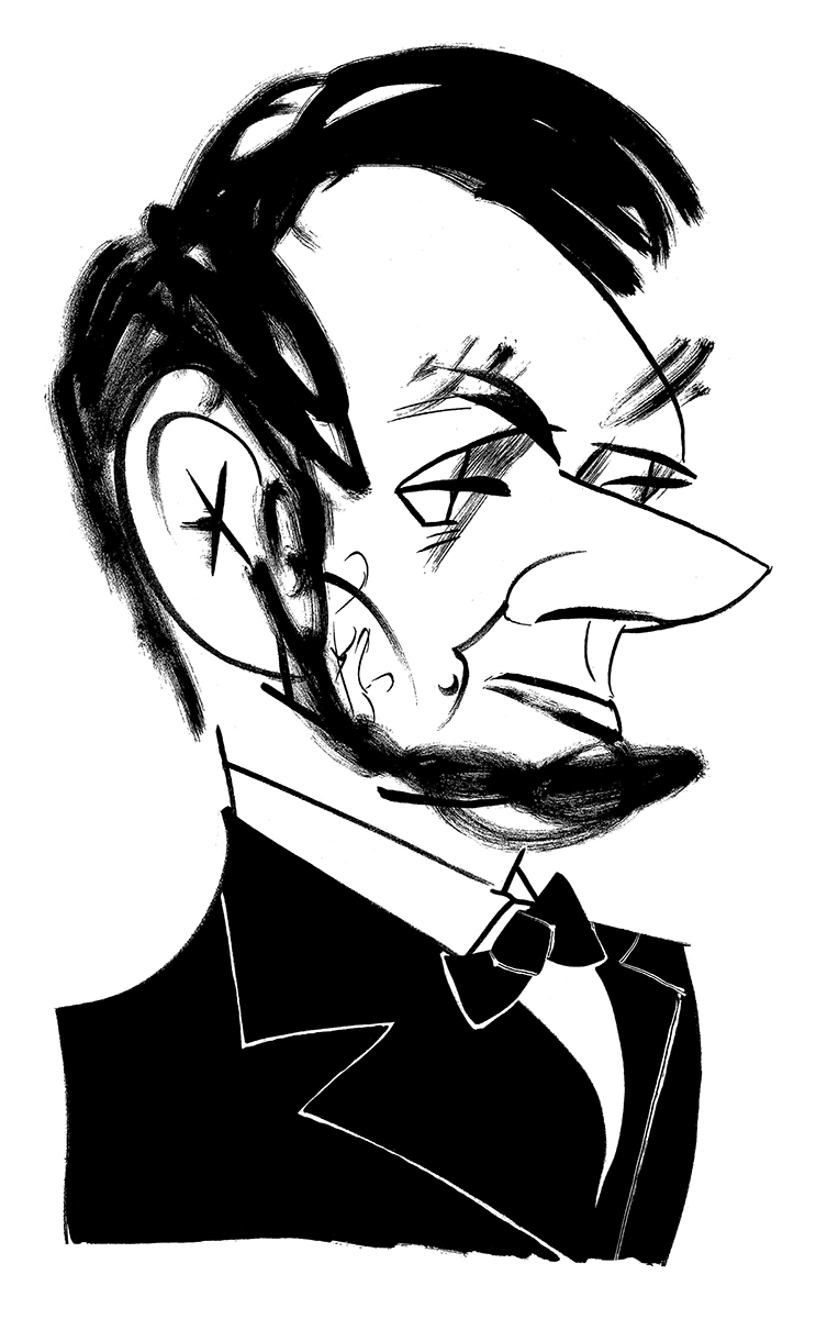 Tom's caricature of Honest Abe.