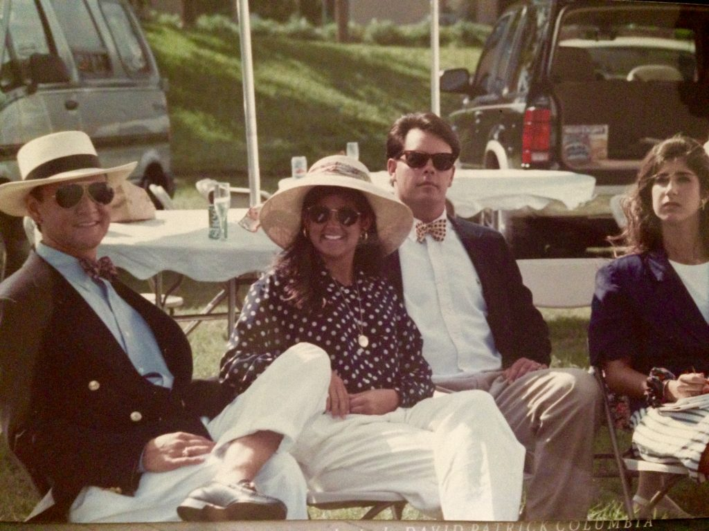 Brian White with fellow Rollins classmates, 1988.