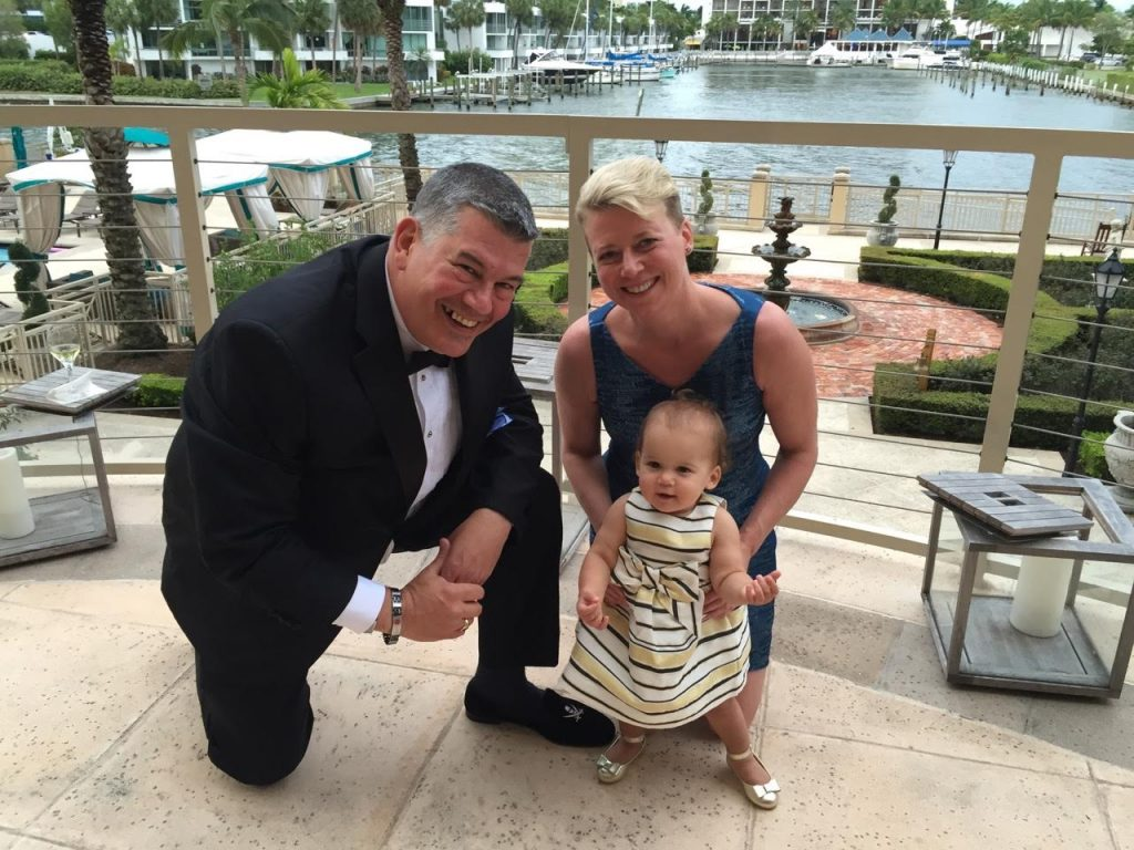 Lisette and Ray Caccioli, with daughter Addison.