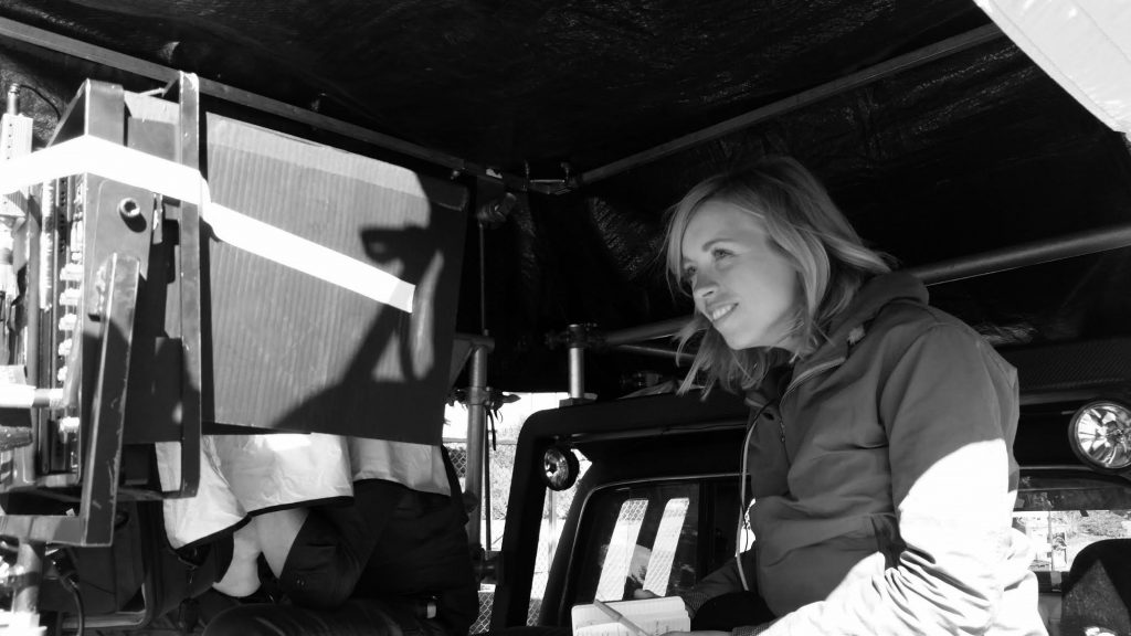 Alice Mathias directing her first episode of the now-iconic Portlandia, photo by Janet Weiss.