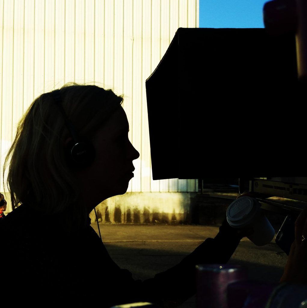 Alice on set, photo by Janet Weiss.