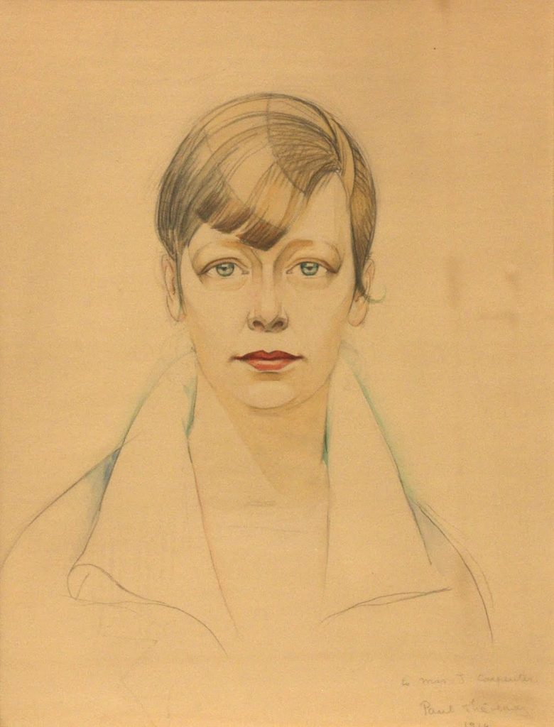 Paul Thevenaz's Portrait of Rue Winterbotham Carpenter from 1919, from the Collection of The Arts Club of Chicago.