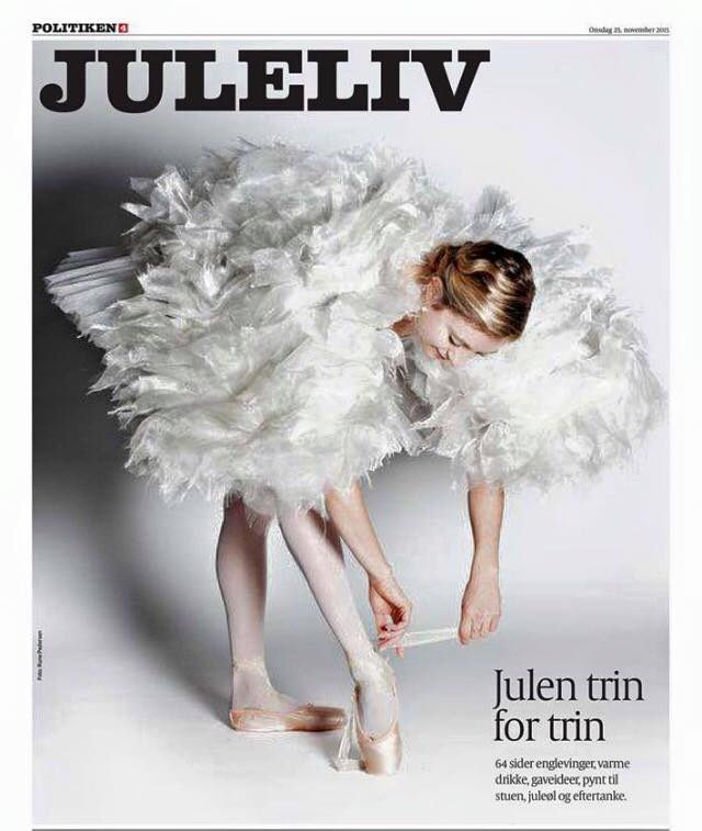 Cover girl: Caroline on the cover of the arts section in the Danish newspaper, Politiken.