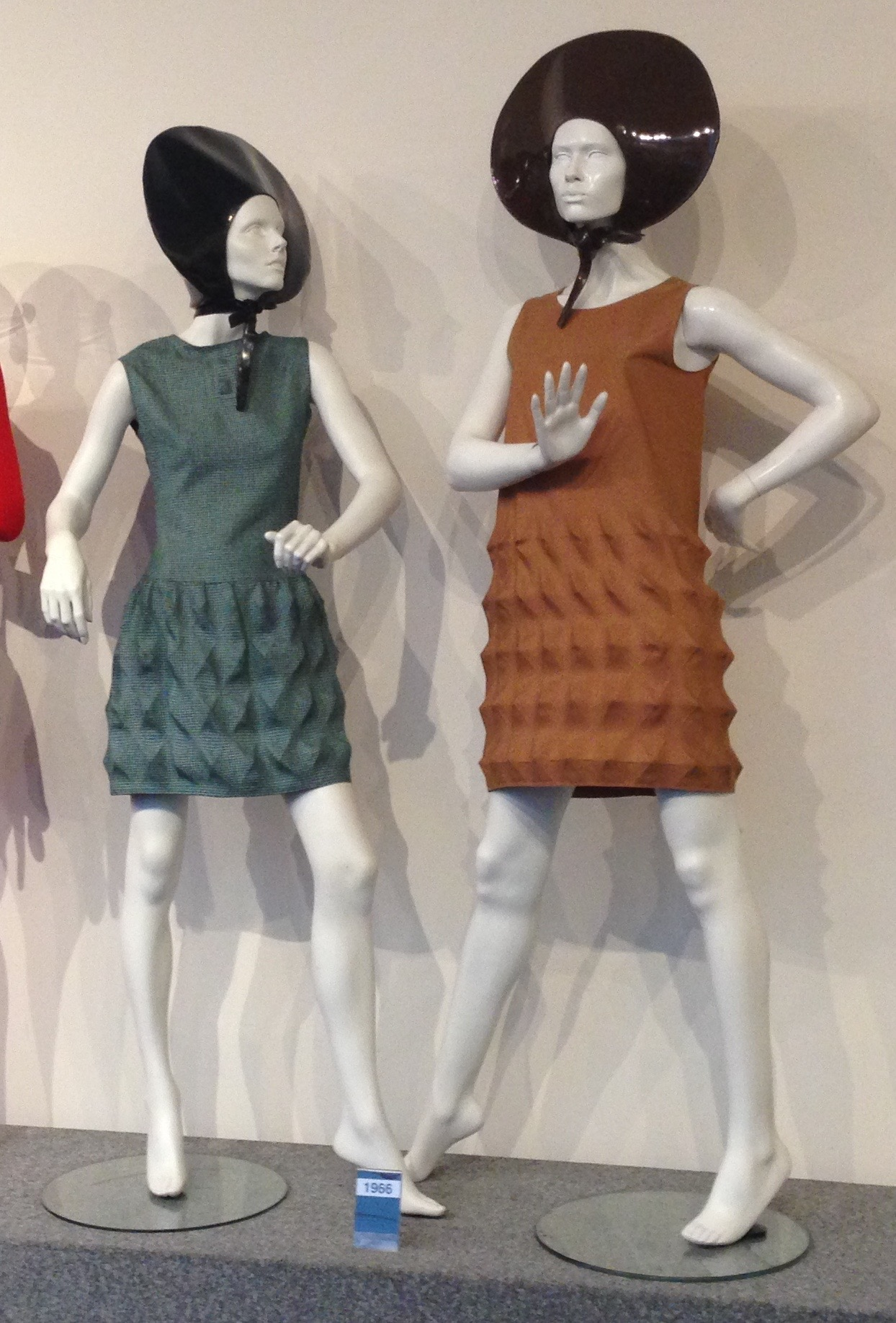 Pierre Cardin 1968 dresses made out of 'Cardine' fabric, Musée Pierre Cardin.
