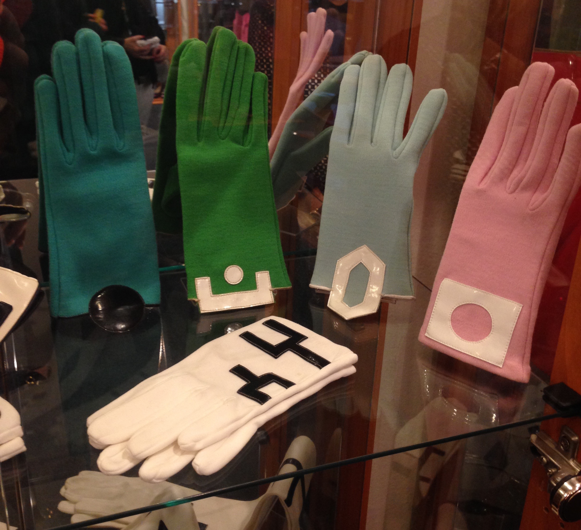 Pierre Cardin gloves from the 1960s, Musée Pierre Cardin.