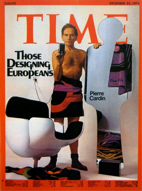Pierre Cardin on the December 23, 1974, cover of Time.