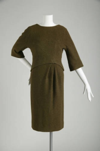 1956 Pierre Cardin dress, collection of the Chicago History Museum.