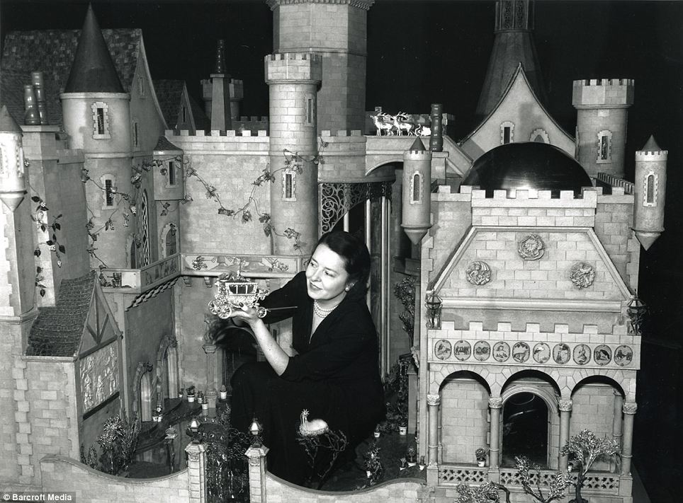 Colleen Moore and her Fairy Castle.