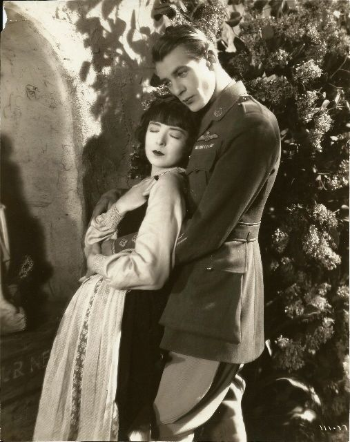 Colleen Moore and Gary Cooper in the 1928 film Lilac Time.