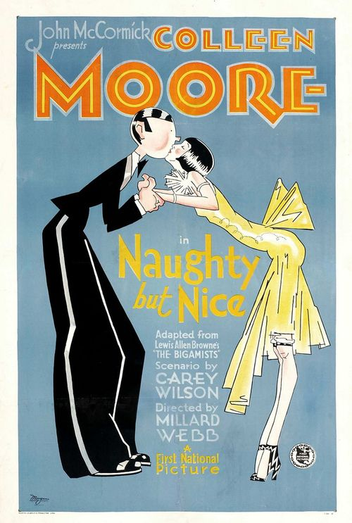A poster for Moore's 1927 film, Naughty but Nice, directed by Millard Webb.