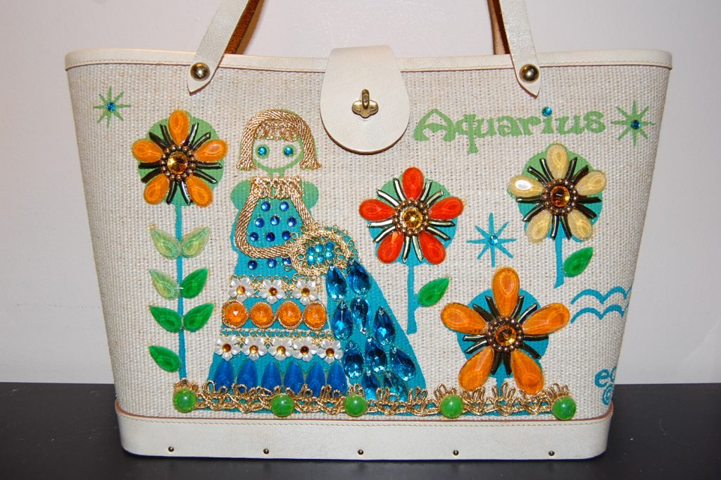 Enid Collins' 1960s Collins of Texas 'Aquarius' bag. Part of the zodiac series.