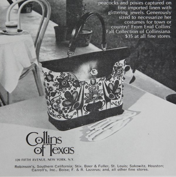 Collins of Texas advertisement from the November 15, 1969 issue of the New Yorker.